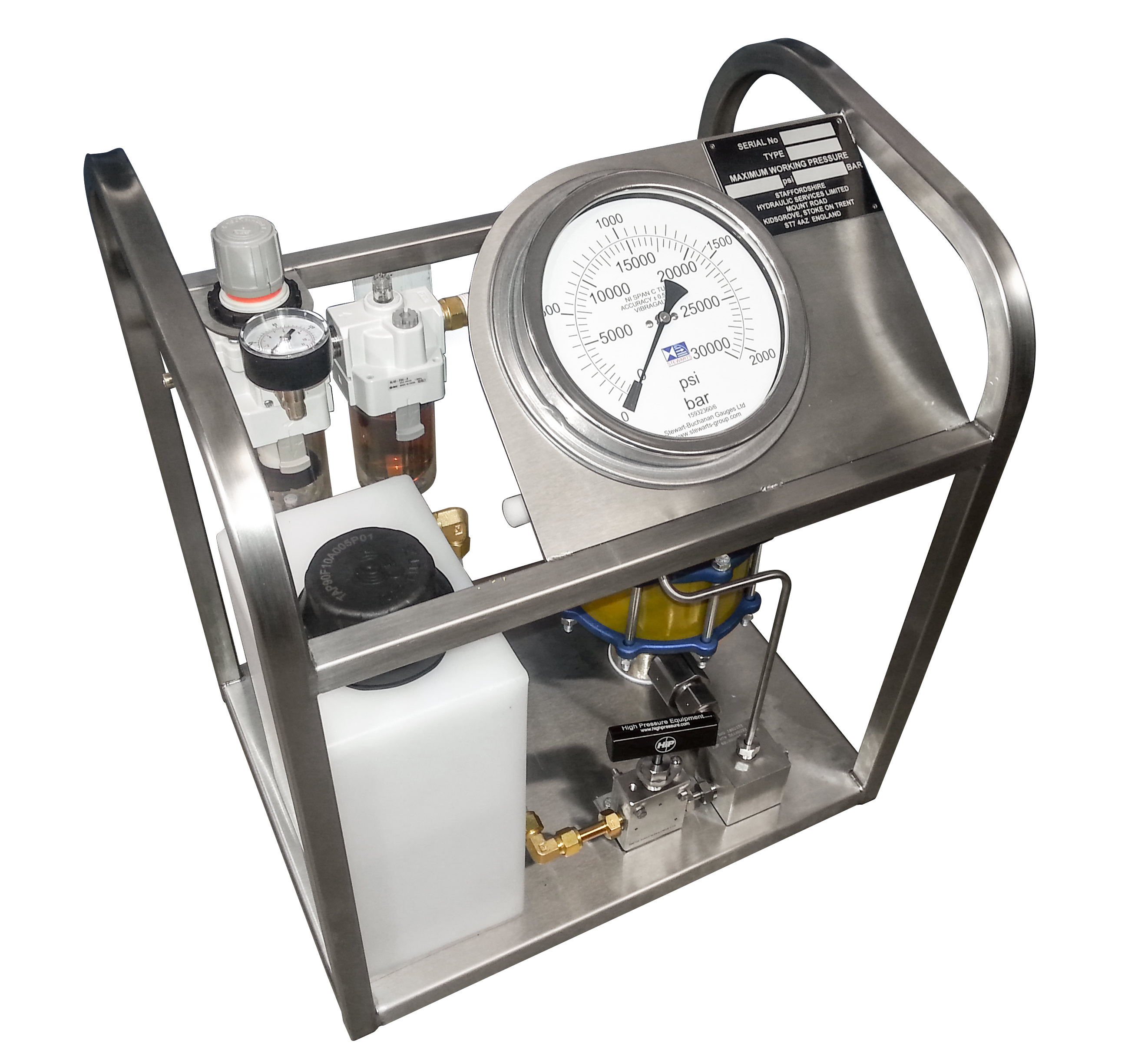 Self Contained Hydro Test Pump Manual – Jerusalem House