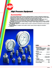 Accessories High Pressure Equipment